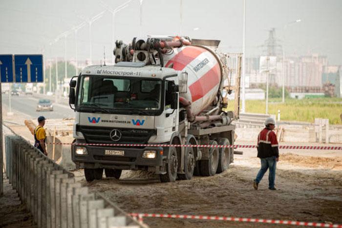 доставка бетона для строительства моста