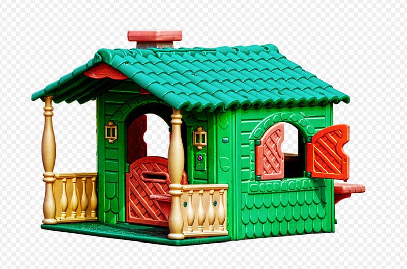 домик из пластика детский