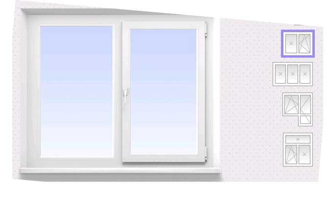 размеры для конфигурации пластковых окон