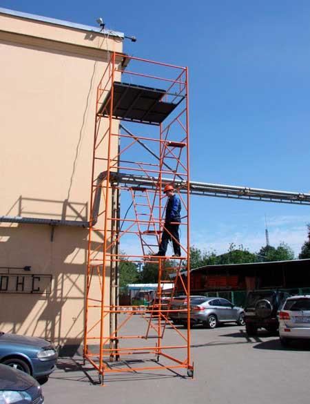 фото строительной вышки