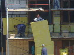 облицовка стен  плитами
