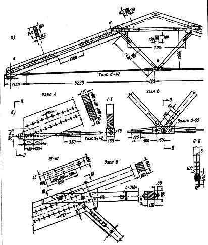 Металло-деревянные сборные фермы системы В. С. Деревягина