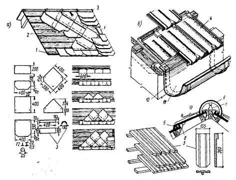 деревянное основание под черепичную крышу